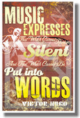 Music Expresses That Which Cannot Remain Silent - Music Poster (mu071)