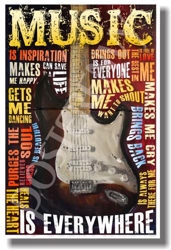 Music Is Everywhere - Music Poster (mu072)