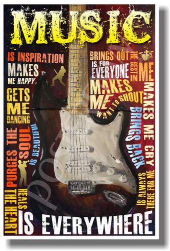 Music Is Everywhere 2 - NEW Music Poster (mu073)