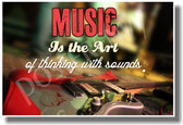 Music Is The Art of Thinking with Sound NEW Music Poster (mu074) PosterEnvy electric guitar musiacian