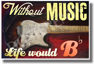Without Music - NEW Funny Music Quote Poster (mu076)