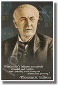 Many Of Lifes Failures 2 -Thomas Edison - NEW Famous Person Quote Poster (fp321)