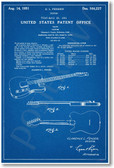 Fender Telecaster Electric Guitar Patent - NEW Famous Invention Blueprint PosterEnvy Poster (fa118)