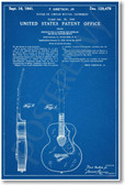 Gretsch Guitar Patent - NEW Famous Invention Blueprint Poster (fa119)