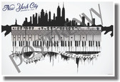 New York City - Music - NEW U.S State Travel Poster (tr518)