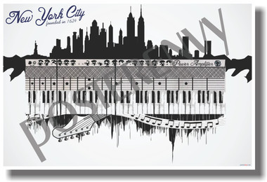New York City - Music - NEW U.S State Travel Poster (tr518)