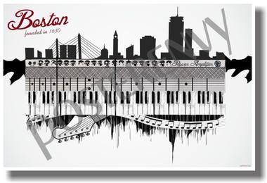 Boston - Music - NEW U.S State Travel Poster (tr515)