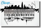 Chicago - Music - NEW U.S State Travel Poster (tr516)