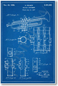Trumpet Patent - NEW Famous Invention Patent Poster (fa129)