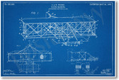 Wright Flying Machine - NEW Famous Invention Patent Poster (fa130)
