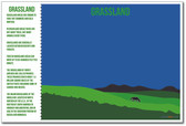 Grassland - NEW World Habitat Ecosystems Poster (ms269)