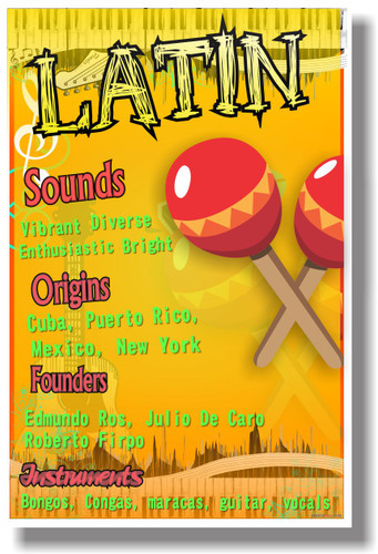 Latin - NEW Music Poster (mu079)