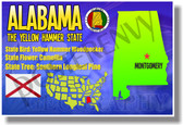 Alabama Geography -  U.S. State Travel Social Studies PosterEnvy Poster (tr519)