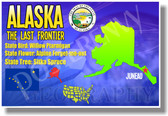 Alaska Geography - NEW U.S. State Social Studies Travel PosterEnvy Poster (tr520)