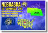 Nebraska Geography - NEW U.S Travel Poster (tr535)