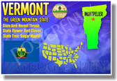 Vermont Geography - NEW U.S Travel Poster (tr552)