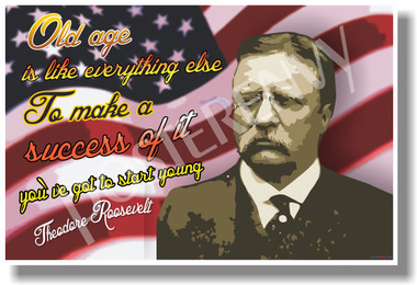 Old Age Is Like Everything Else - Theodore Roosevelt - NEW Classroom Motivational Poster (fp328)