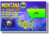 Montana Geography - NEW U.S Travel Poster (tr568)