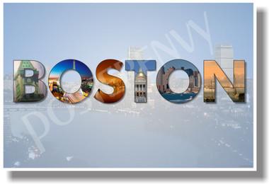 Boston Massachusetts - NEW U.S State Travel Poster (tr570)