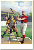Batter Up! Vintage Baseball Poster