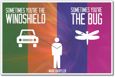 Sometimes You Are The Windshield - Mark Knopfler - NEW Classroom Motivational Quote Poster (cm1028)