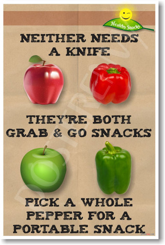 Apples and Peppers - NEW Health and Nutrition Poster (he038)