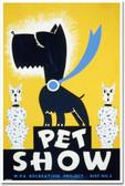 Pet Show - Vintage Poster