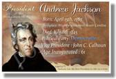 Presidential Series - U.S. President Andrew Jackson - New Social Studies Poster (fp337) PosterEnvy