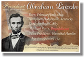 Presidential Series - U.S. President Abraham Lincoln - New Social Studies Poster PosterEnvy