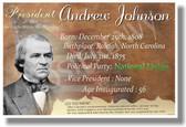 Presidential Series - U.S. President Andrew Johnson - New Social Studies Poster PosterEnvy