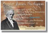 U.S. President James Buchanan - New American Social Studies History Poster (fp346) PosterEnvy