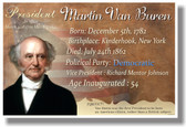 Presidential Series - U.S. President Martin Van Buren - New Social Studies Poster (fp351) American History PosterEnvy
