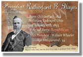 Presidential Series - U.S. President Rutherford Hayes - New Social Studies Poster