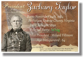 Presidential Series - U.S. President Zachary Taylor - New Social Studies Poster