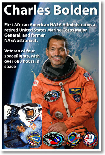 Charles Bolden - NEW NASA African American Astronaut Space Poster (fp358) shuttle famous person motivational PosterEnvy