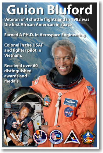 Guion Bluford - NEW NASA African American Astronaut Space Shuttle Poster (fp359) PosterEnvy motivational role model
