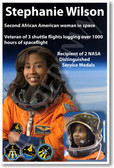 Stephanie Wilson - NEW NASA African American Astronaut Space Shuttle Poster (fp369) PosterEnvy