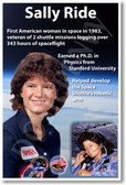 Sally Ride - First American Woman in Space - NEW NASA American Astronaut Space Poster (fp372)