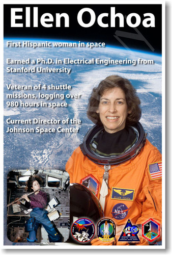 Ellen Ochoa - First Hispanic Female Woman in Space - NEW NASA American Astronaut Space Poster (fp374) PosterEnvy