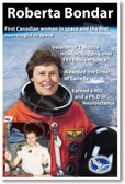 Roberta Bondar - First Canadian Woman in Space - NEW NASA Astronaut Space Poster (fp376) female women