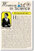 Lise Meitner - Women in Science Chemistry & Physics - NEW Classroom Poster (fp378) PosterEnvy female