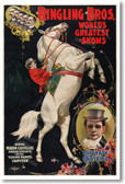 Ringling Bros - World's Greatest Shows - Ringmaster Madam Ada Castello - Vintage Reproduction Art Circus Poster (vi568) PosterEnvy