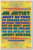 An Artist Must Be Free - Langston Hughes - NEW Classroom Poster (fp381) PosterEnvy African American writer author