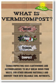 What is Vermicompost? Composting Earthworms NEW Healthy Planet Ecology Recycle Poster (he058) PosterEnvy Ecology Reduce Reuse Recycle Worm Farm