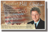 Presidential Series - U.S. President Bill Clinton- New Social Studies Poster