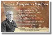 Presidential Series - U.S. President Benjamin Harrison - New Social Studies Poster (fp383) PosterEnvy American History