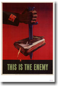 This is the Enemy - (knife through a book)