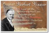 Presidential Series - U.S. President Herbert Hoover - New Social Studies Poster (fp389) American History PosterEnvy