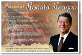 Presidential Series - U.S. President Ronald Reagan - New Social Studies Poster (fp394) Amerrican History Cold War PosterEnvy