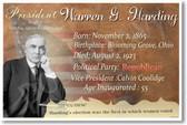 Presidential Series - U.S. President Warren G. Harding - New Social Studies Poster (fp395) Women Suffrage 1920s American History PosterEnvy